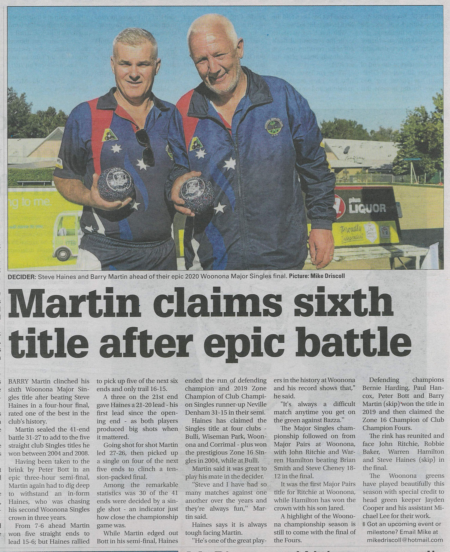 Barry Martin claims 6th title in epic battle