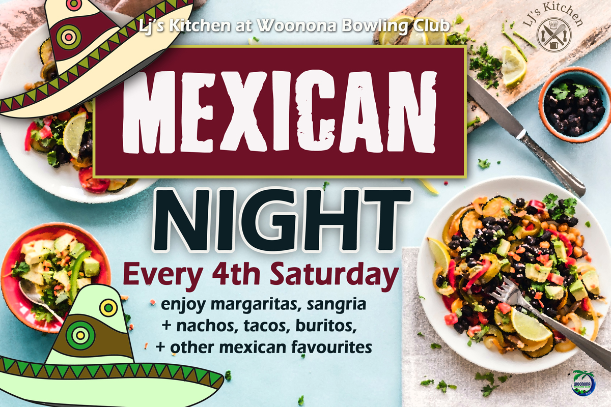 THIS SATURDAY! Mexican Night 27th March