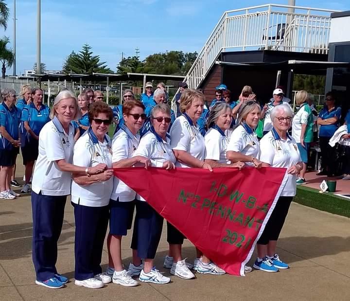 Ladies #2 Win Pennants Flag!