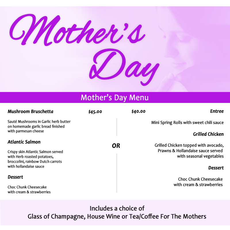 Mother's Day Lunch Special